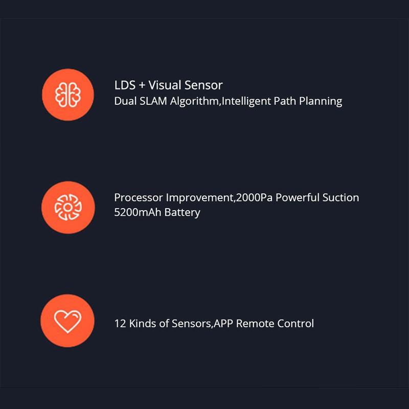พร้อมส่งqஐ【ราคาพิเศษ】Xiaomi mijia Roborock Vacuum Cleaner 1S หุ่นยนต์ดูดฝุ่น หุ่นยนตร์ทำความสะอาดสามารถถูแล