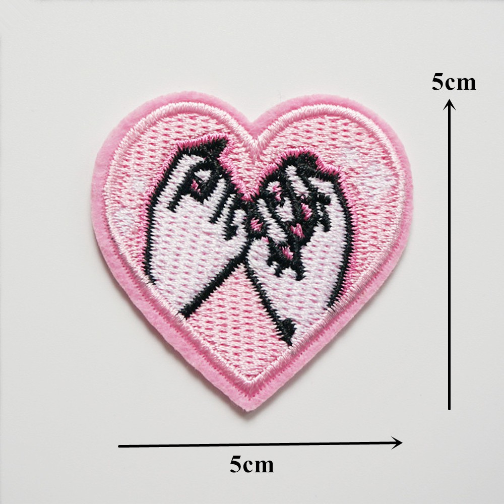 Sequin Heart Craft Sewing Embroidered Sew//Iron On Applique Patch Clothes Craft