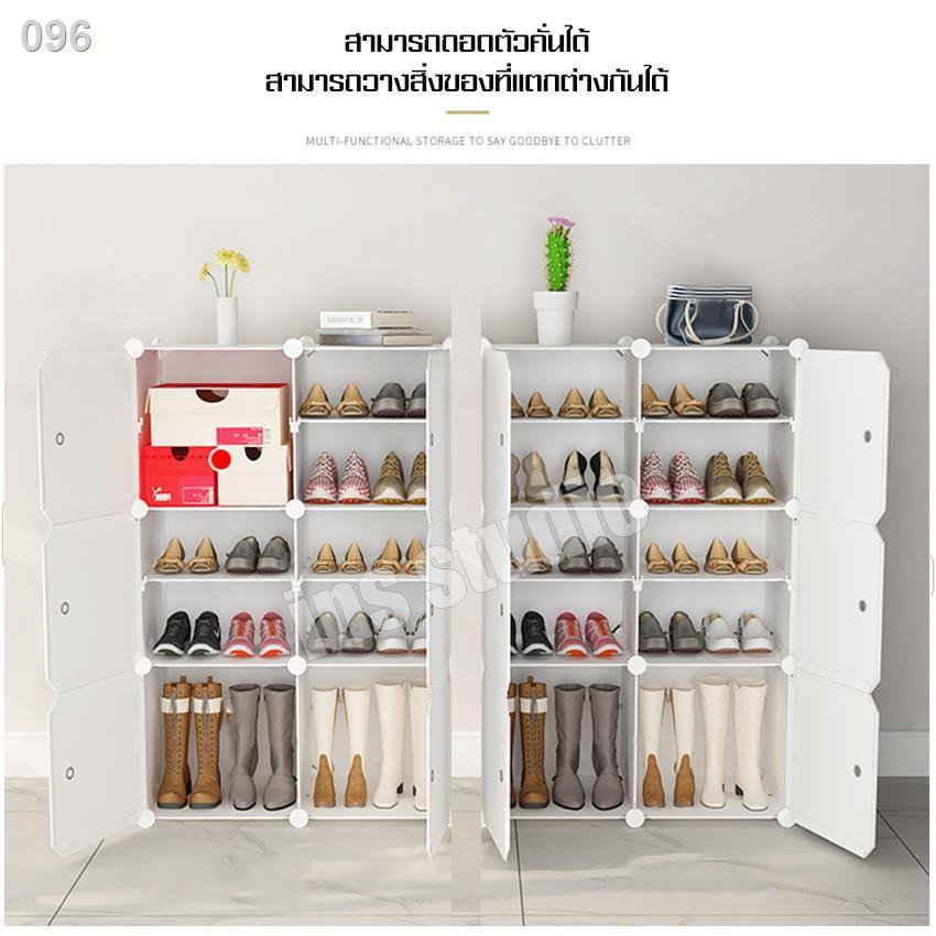 ☋▧✆ชั้นวางรองเท้า กันน้ำ กันฝุ่น DIY ตู้เก็บรองเท้า ที่เก็บรองเท้า  ตู้เก็บของ ตู้รองเท้า ตู้รองเท้าpvc