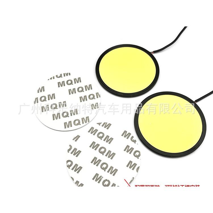 หลอดไฟ LED วงกลมสีขาว 12V กว้าง 8.3 cm.