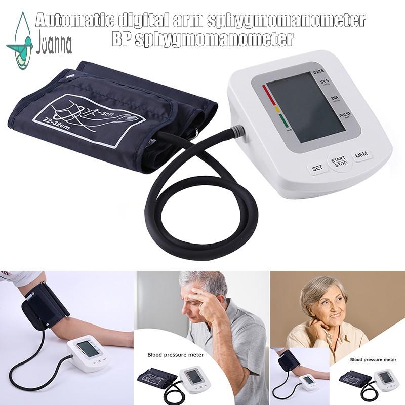 Automatic Digital Arm BP Monitor Sphygmomanometer Tonometer for Measuring Arterial Pressure