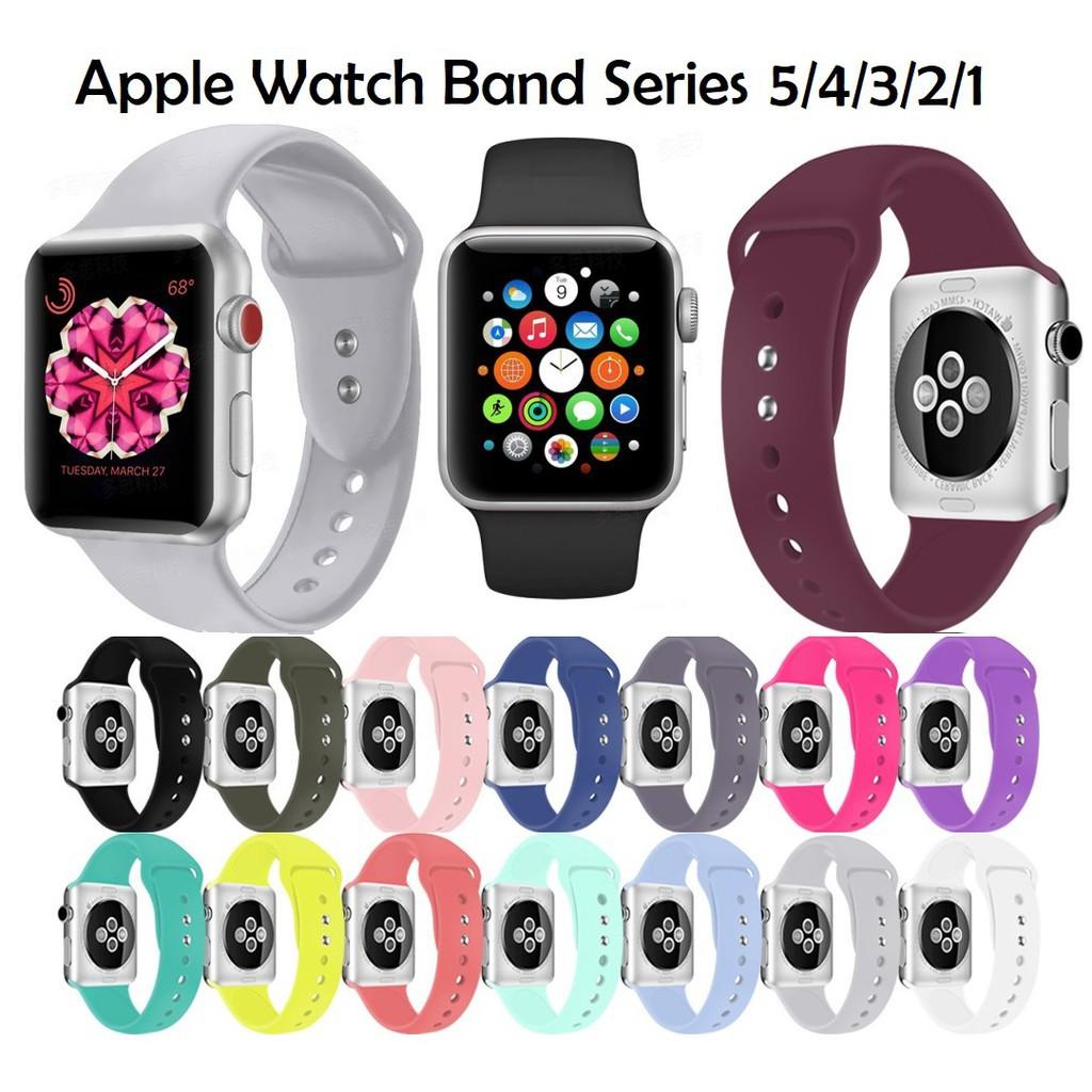 สาย applewatch สายนาฬิกา applewatch สายนาฬิกา Apple Watch สายนาฬิกาข้อมือซิลิโคน for Iwatch สาย Apple watch Series 1/2/3