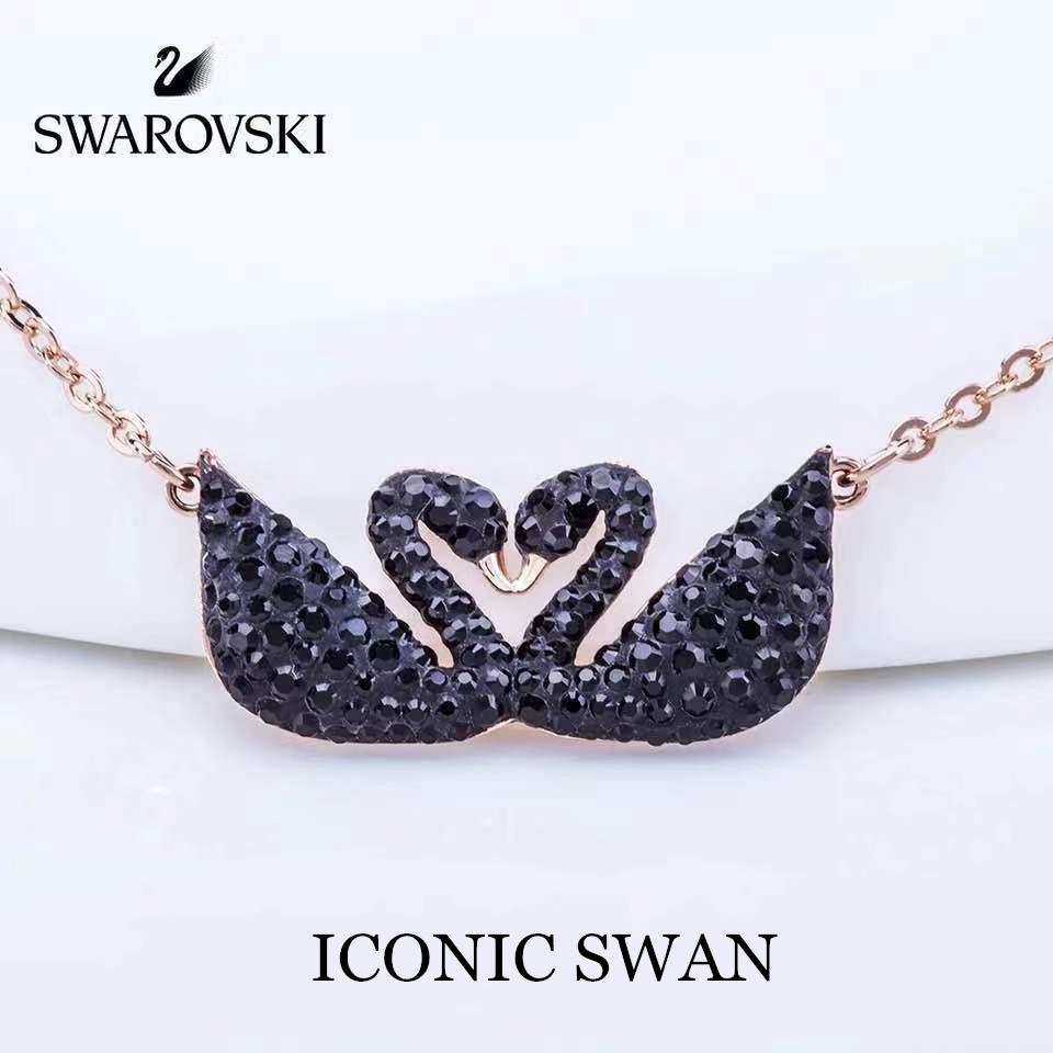 Swarovski ICONIC SWAN   สวารอฟส ของแท้ 100%สร้อยคอจี้ไล่ระดับราชินีหงส์น้อย  ส่งของขวัญให้แฟนสร้อย
