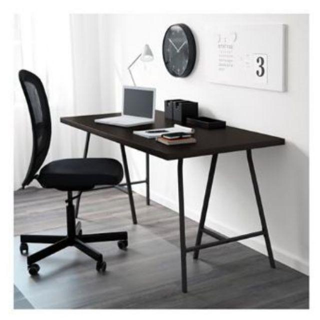 โต๊ะทำงาน 120x60 ซม. ขาถ่าง Ikea โต๊ะ ทำงาน โต๊ะคอมพิวเตอร์ โต๊ะ Computer จัดส่งฟรี.