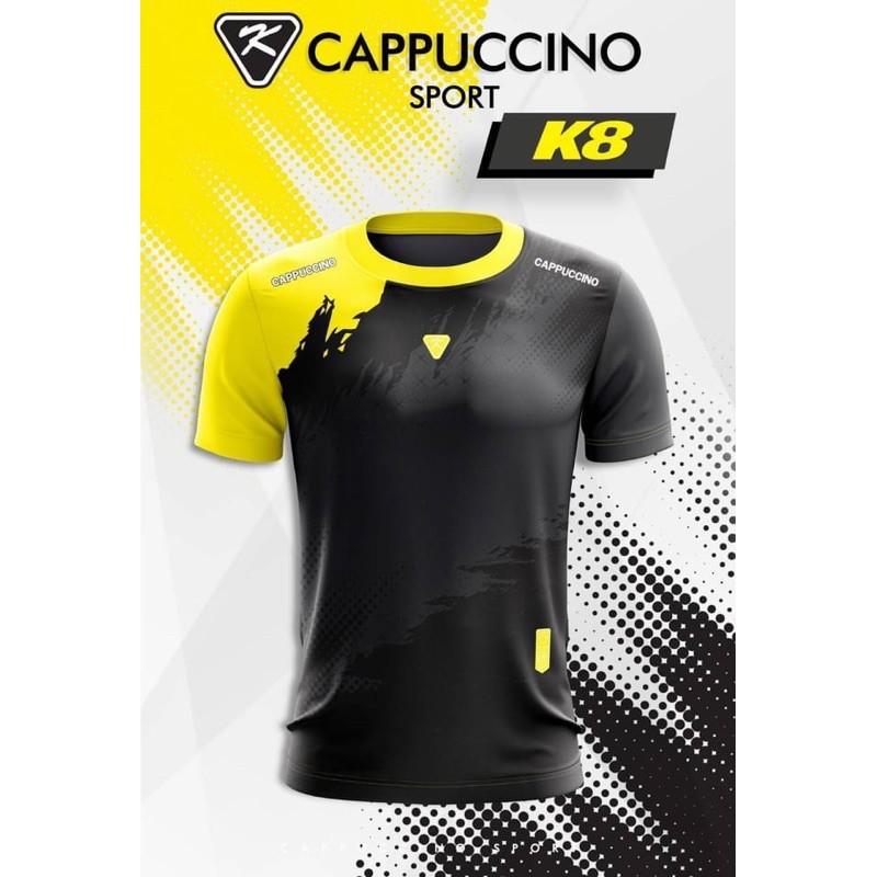 เสื้อกีฬา เสื้อบอล เสื้อวิ่ง เสื้อใส่เล่น ผ้าไมโครเกรดพรีเมี่ยม ระบายอากาศดี ซับเหงื่อ แห้งง่าย ไม่อับชื้น รุ่น *K8*