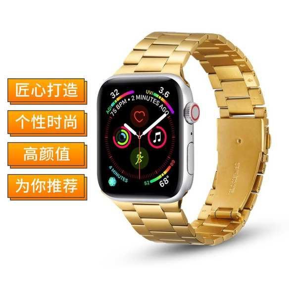 สาย applewatch เหมาะสำหรับ Apple Watch iwatch5 / 6 สาย applewatch เซรามิก 3/4 รุ่น 2 โซ่ se โลหะสแตนเลส 40 / 44mm42 น้ำแ