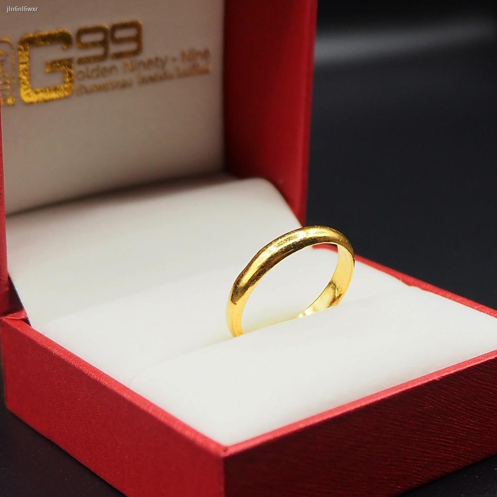 ราคาต่ำสุด♧♟✺แหวนทองครึ่งสลึง ทองคำแท้ 96.5% แหวนปอกมีด