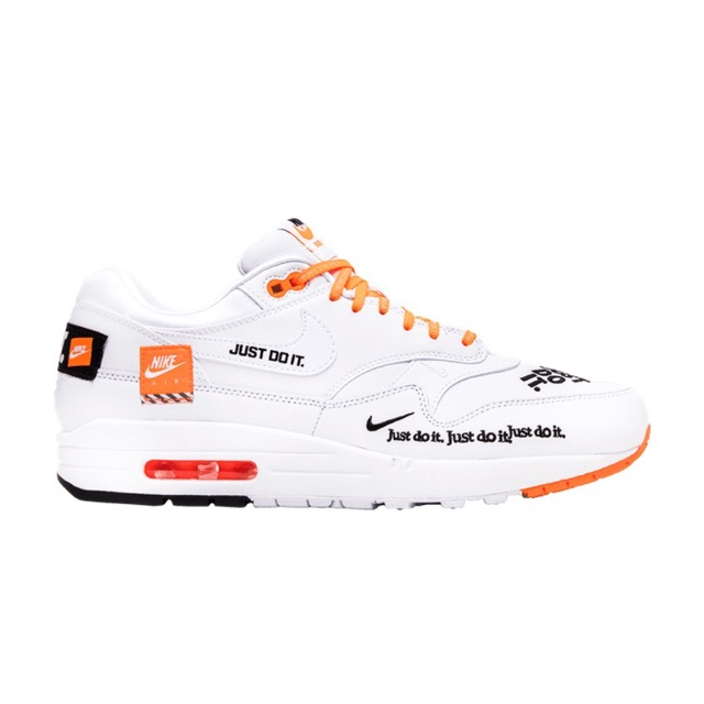 "Nike Air max 1  Just do it ""White/Orang-Black"" แท้ 💯%"