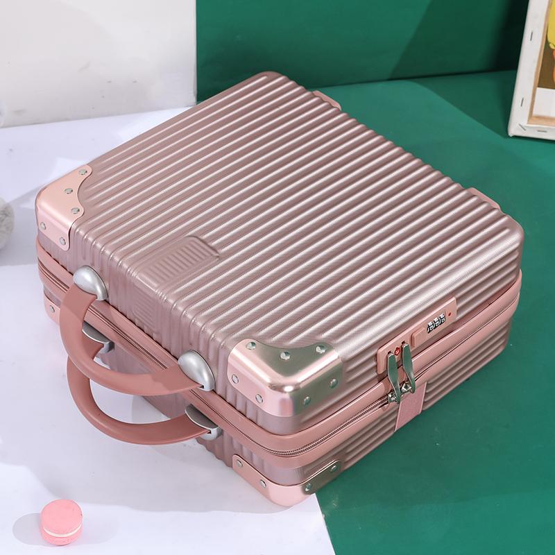 กระเป๋าเครื่องสำอางพกพาหญิง14-ไฟขนาดเล็กนิ้ว16กระเป๋าเดินทางรหัสผ่านนิ้วสาวหัวใจกล่องเก็บมินิ