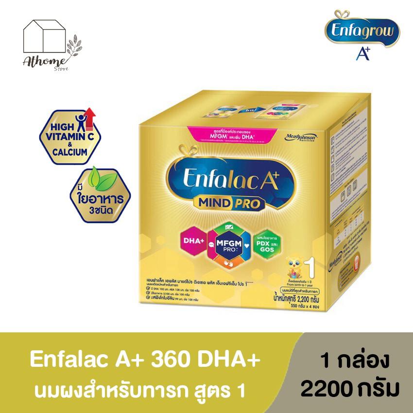 [นมผง ] Enfalac เอนฟาแล็ค เอพลัส สูตร 1 สำหรับเด็กแรกเกิด - 1 ปี เสริมสร้างพัฒนาการของลูกน้อย ขนาด 2,200 กรัม