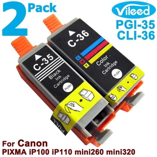 [สต็อกประเทศไทย]PGI-35 CLI-36 printer compatible ink cartridge, suitable for Canon PIXMA TR150 iP100 iP110