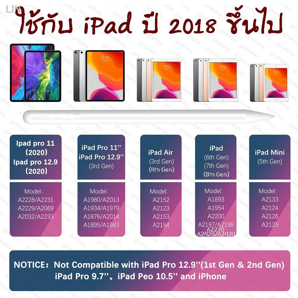 ▦☽♞[สำหรับ ipad] ปากกาไอแพด วางมือ+แรเงาได้ สำหรับApple Pencil stylus สำหรับipad gen7 gen8 สำหรับapplepencil 10.2 9.7 Ai