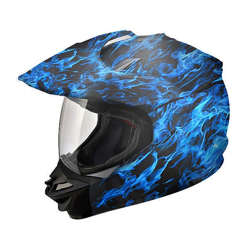 "Hydrographics Film Blue Flame 39/"" x 39/"""