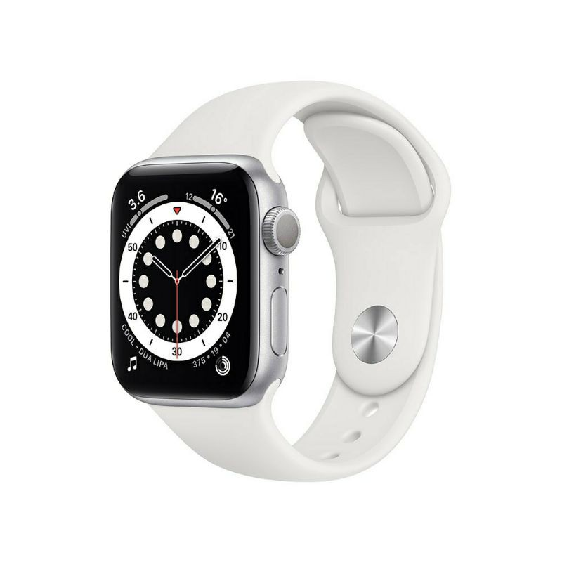 ส่งฟรี!! แท้! 100% Apple Watch Series 6 GPS - Silver Aluminium Case with White Sport Band - 40 mm