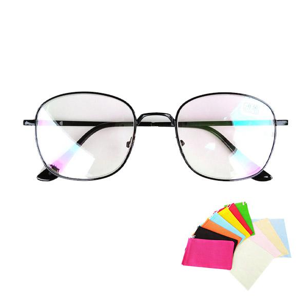 แว่นสายตาสั้น-0.5ถึง-4.00 เลนส์กรองแสง รหัส CGS40 ทรงเหลี่ยม พร้อมถุงแว่นและผ้าเช็ดเลนส์