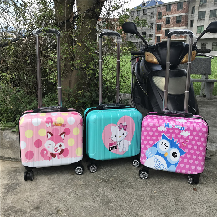 ⅙ご กระเป๋าเดินทางล้อลากใบเล็ก กระเป๋าเดินทางล้อลากกรณีรถเข็น14นิ้วเด็กเล็กรถเข็นกระเป๋าล้อสากล18นิ้วผู้หญิง16นิ้วตัวถังข