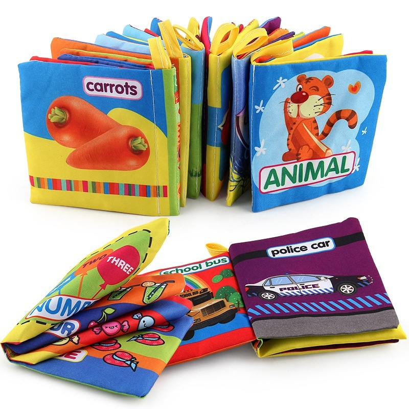 Cute Baby Animal Cloth Book Infant Kid Intelligence Development Toy Bed Cognize Books