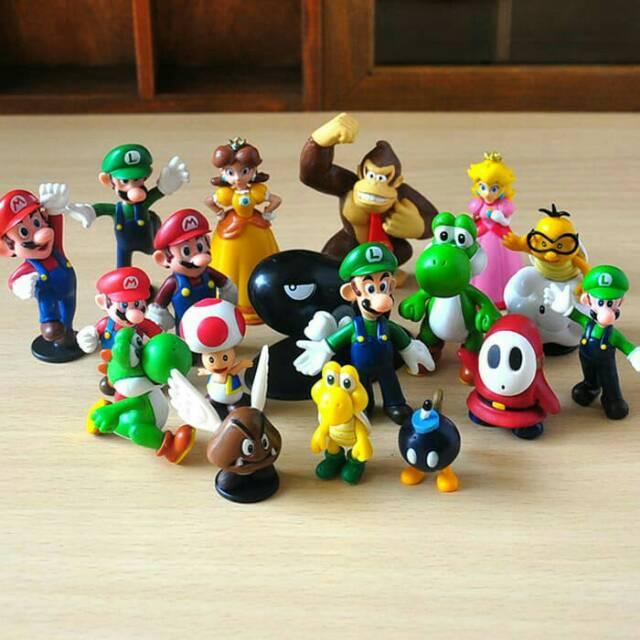 ฟิกเกอร์ Mario Bros Figure Super Mario Donkey Kong 18 ชิ้น