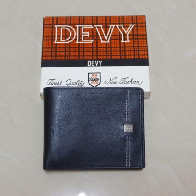กระเป๋าสตางค์ผู้ชาย DEVY สีดำ หนังนิ่ม  ของแท้ 100%