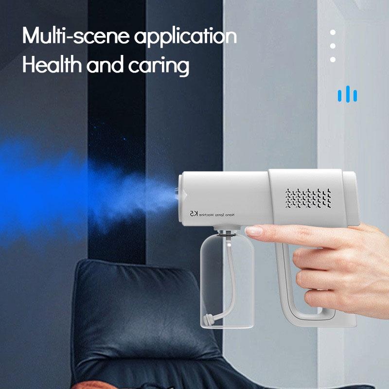 K5 nano spray gun blue light disinfection sprayer rechargeable atomization disinfection gun @RUNA