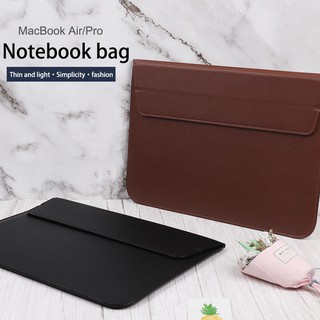 MacBook Air Pro 11.6 13.3 15.4 Sleeve Case Cover 11/12/13/15/16 Inch Leather Envelope Bag HandBag Laptop Bag Waterproof