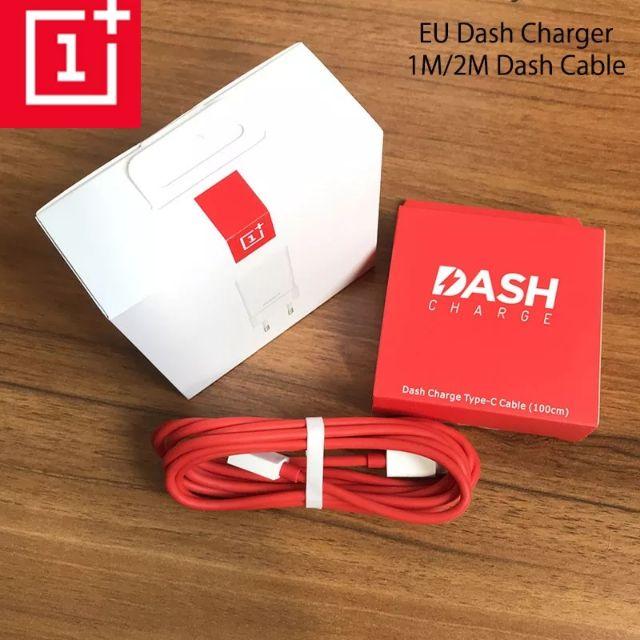 หัวชาร์จ และสาย Oneplus แท้ Original Oneplus 6T Dash Charger 5V 4A USB EU  Fast Charging Adapter Data TYPE C Dash