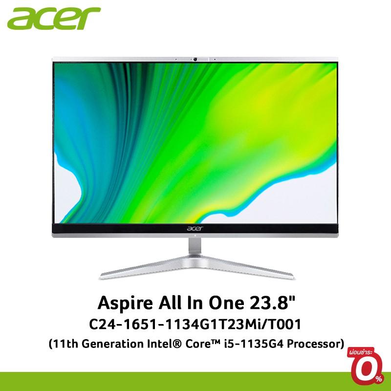"Acer Desktop All In One Aspire C24-1651-1134G1T23Mi/T001 23.8"" i5-1135G4/RAM 4GB/HDD 1TB,SSD 128GB/UMA Graphic/Win10"