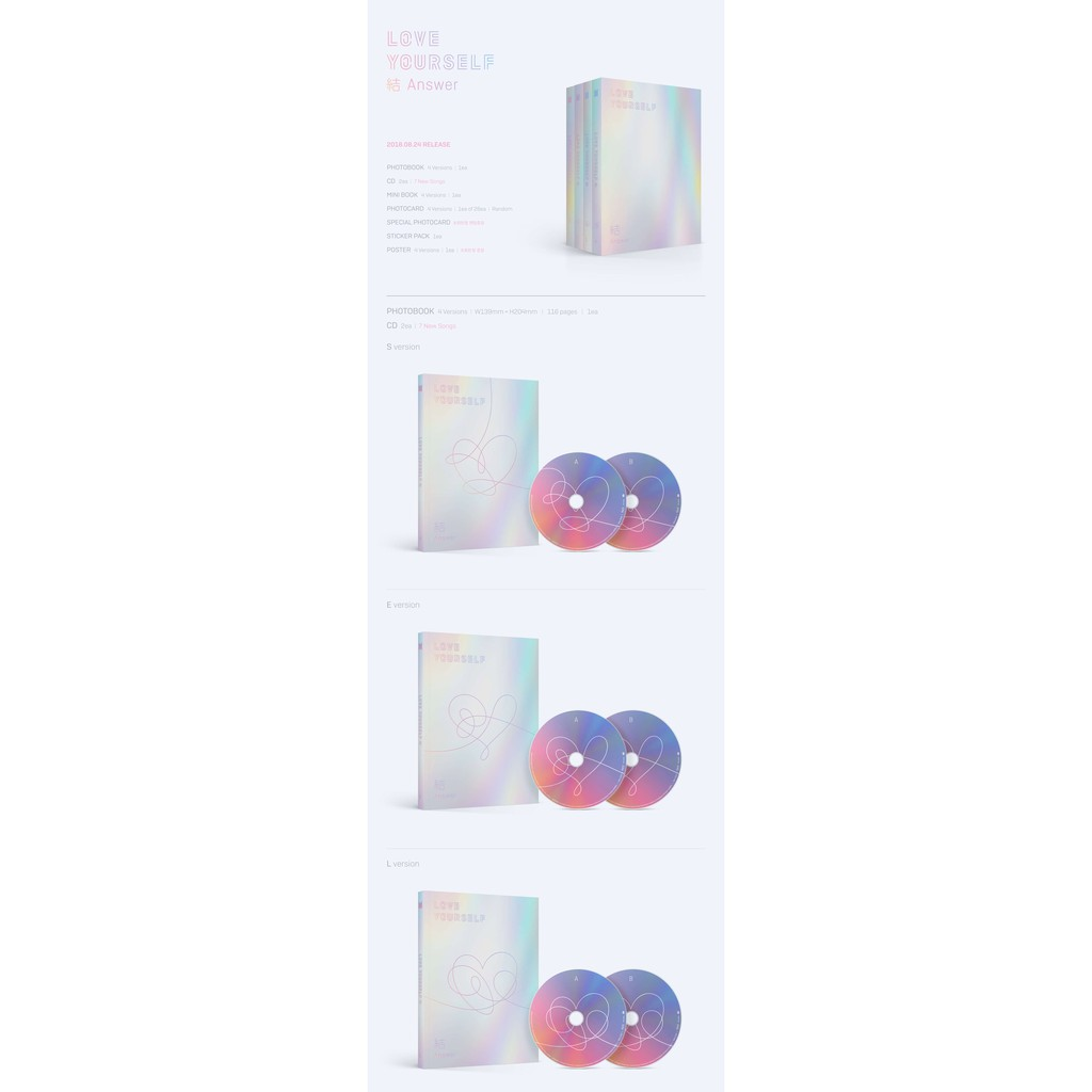 BTS Album - LOVE YOURSELF 結 'Answer'