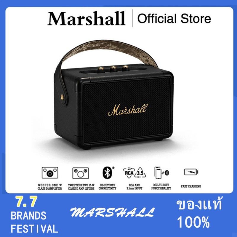 ☬✸ลําโพง Marshall Kilburn II Black - marshall ลำโพงบลูทูธ มาร์แชล Kilburn II ลำโพง รุ่นที่2 ลำโพงคอมพิวเต ประกัน 1 ปี