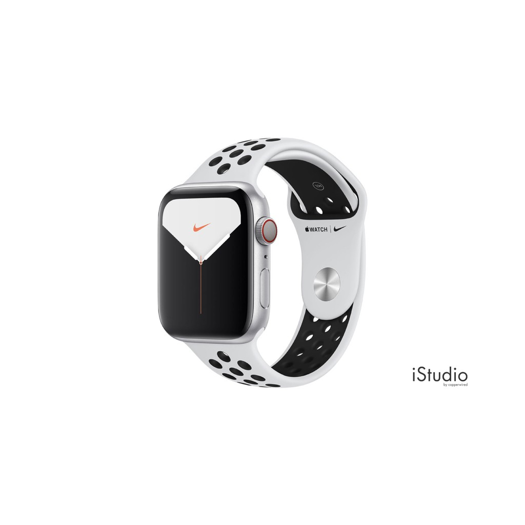 Apple Watch Nike+ Series 5 (GPS+Cellular), Silver Aluminium Case by iStudio by copperwired