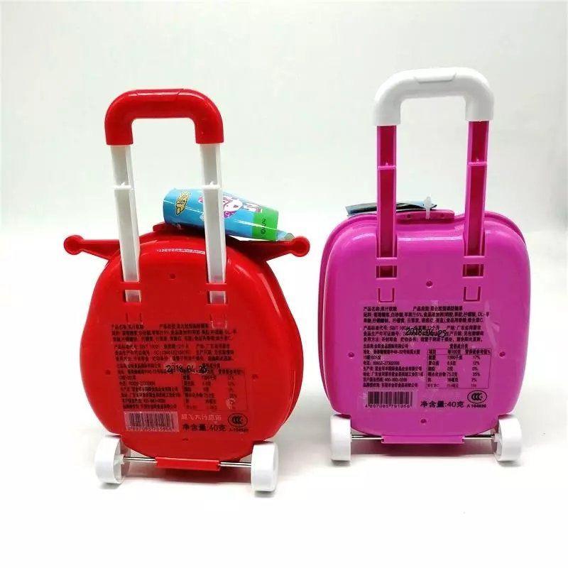 ▧►◘Super Flying Man, กระเป๋าเดินทางล้อลากกระเป๋าเดินทางขนาดใหญ่, ของขวัญวันเกิดเด็กของเล่นมาร์ชเมลโล่
