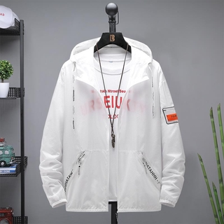 Men's Ice Silk Jacket Thin Direct Selling Jacket Summer Clothes Sun Protection Clothing Korean Style2020The New Trendy C