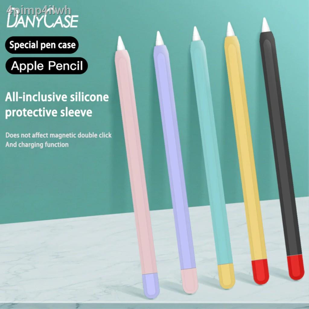 สต็อกพร้อมเคสซิลิโคน สำหรับ ApplePencil 1/2 ซิลิโคนหุ้มปากกาไอแพด ปกป้อง หลากสีสัน