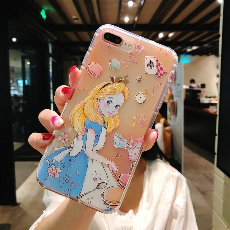 Iphone 6 6s 7 8 6plus 7plus 8plus X XS XR Xsmax Alice Mermaid Apple Case Soft Casing