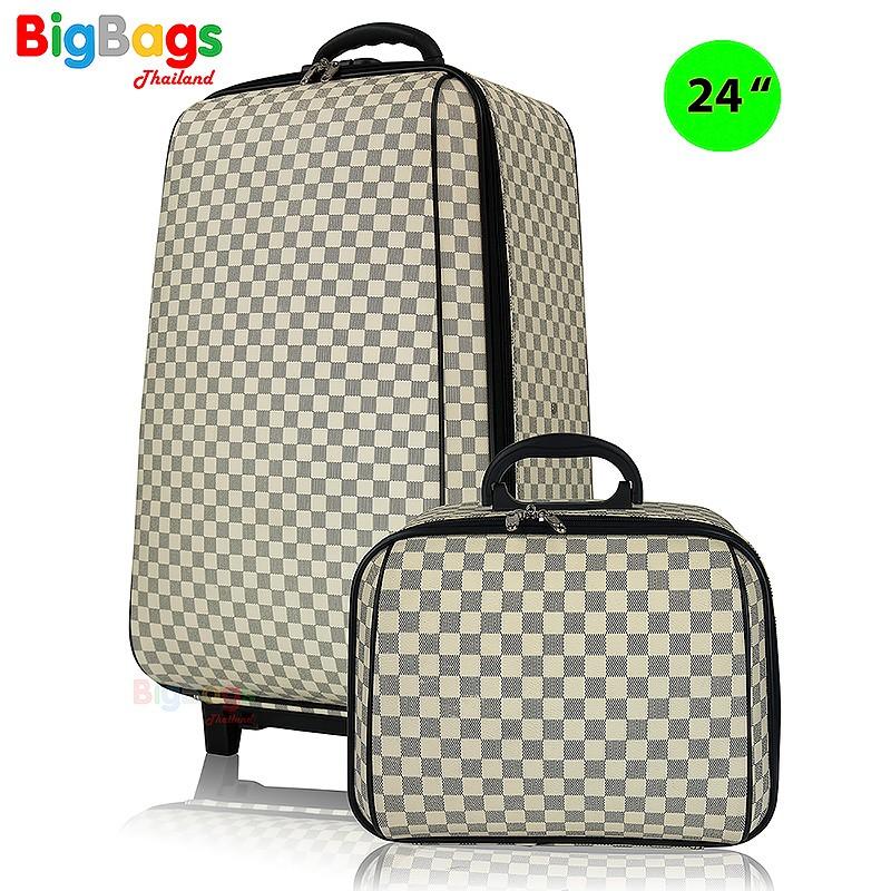 กระเป๋าเดินทาง ล้อลาก ระบบรหัสล๊อค 4 ล้อคู่หลังเซ็ทคู่ 24นิ้ว/14 นิ้ว รุ่น New luxury 99124 bfiO-*-&