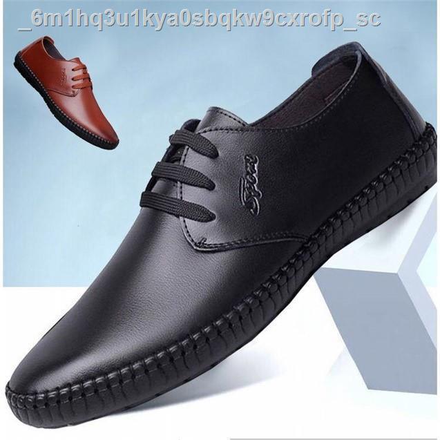 【รองเท้าเดี่ยว】【รองเท้าหนังผู้ชาย】┇Men s Business Dress Shoes รองเท้าหนังนิ่มรองเท้าคัชชูผู้ชายพื้นนิ่มงานยางมันพี