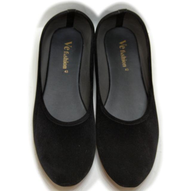 รองเท้าคัชชูดำหยี/รองเท้าคัชชูนักศึกษาหญิง/รองเท้าคัชชูเเบบไม่มีส้น/รองเท้าคัชชูใส่สบาย