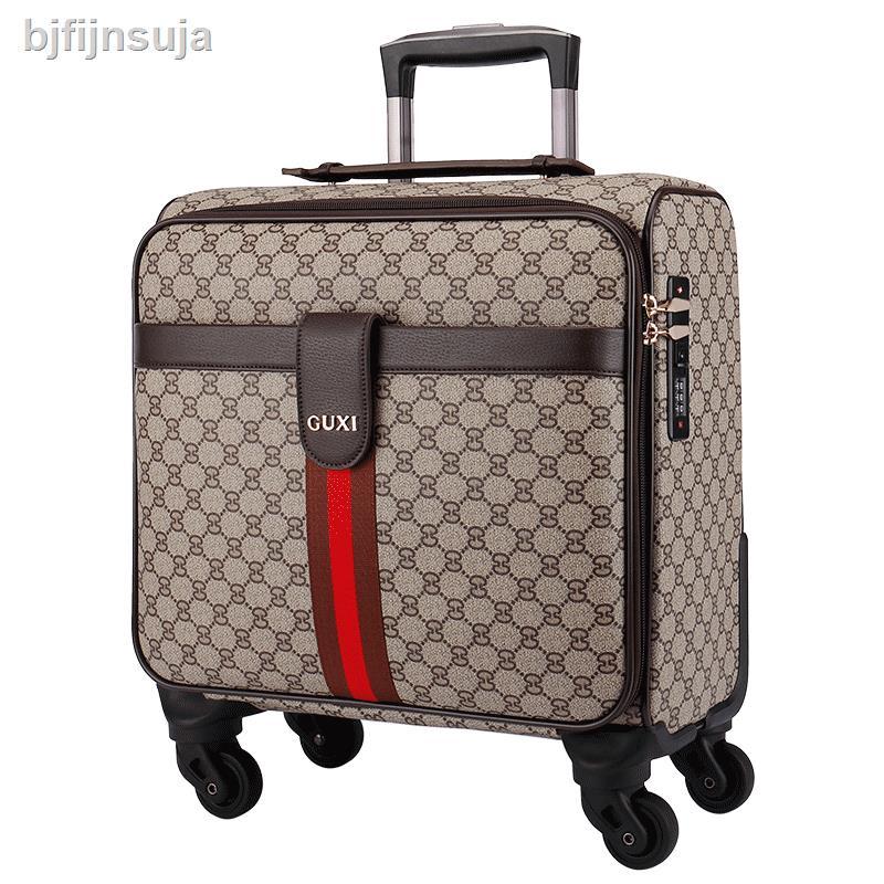 กระโปรงหลังรถ❧✢รถเข็นกระเป๋าใบเล็กกล่องเล็ก กระเป๋าเดินทางหนังผู้หญิง 2021 กล่องเด็กแม่ขึ้นเครื่องผู้ชายกล่องรหัสผ่านเบา