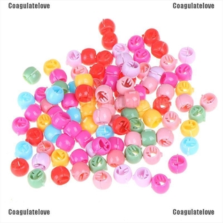 Coagulatelove.☪100 Pcs Mini Hair Claw Clips For Women Girls Cute Candy Colors Beads Headwear