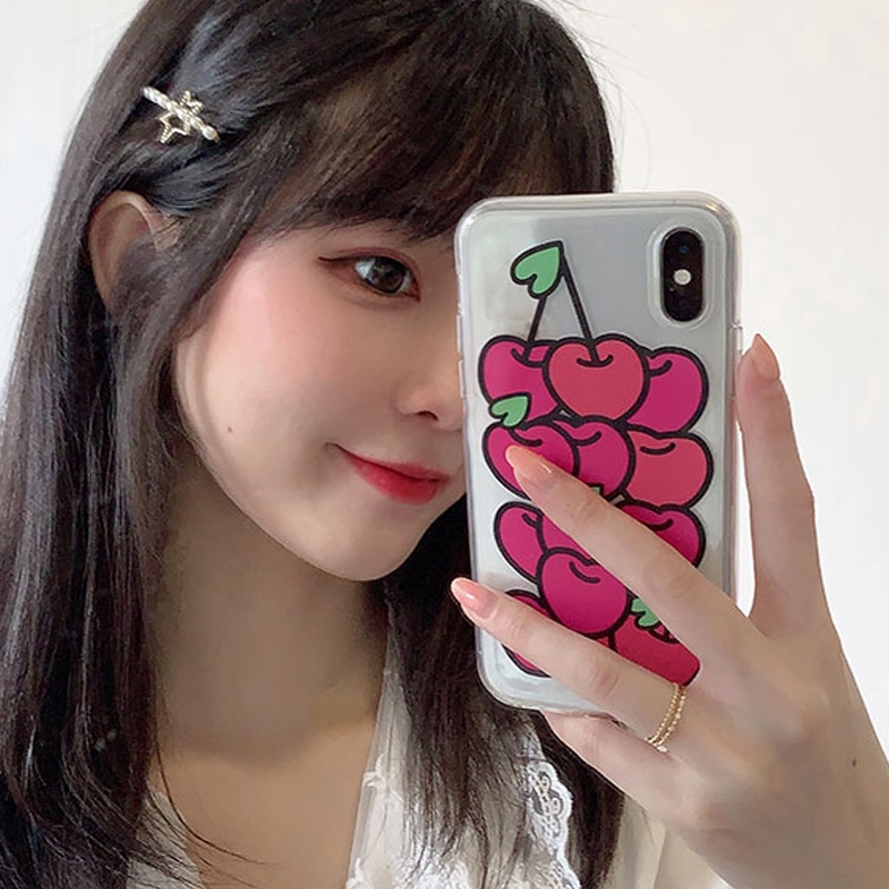 Korean style cherry soft case Samsung J6 2018 J6Plus/J6+ J4 2018 J4Plus/J4+ J8 2018  J2PRO 2018 J7Plus J7Pro/J7 2017 J5Pro/J5 2017 J3Pro/J3 2017 J7Prime J5prime J2prime J710/J7 2016 J510/J5 2016 Note8 Note9 Note10 NOTE10Plus A51
