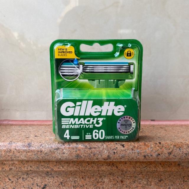 ใบมีดโกนหนวด Gillette Mach3 Turbo Sensitive Blade