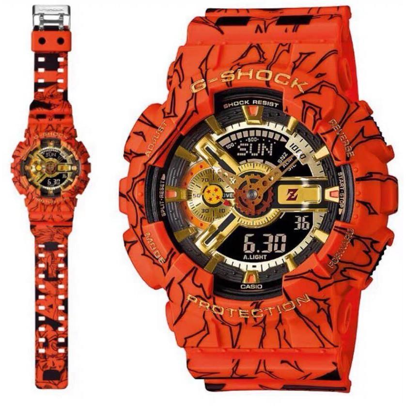 ♤▦☢CASIO G-SHOCK นาฬิกาข้อมือแฟชั่นในรูแบบ Dragon Ball รุ่น GA-110JOB-1A4 สุดฮอตในปี2020 หน้าปัด40mm พร้อมกล่อง