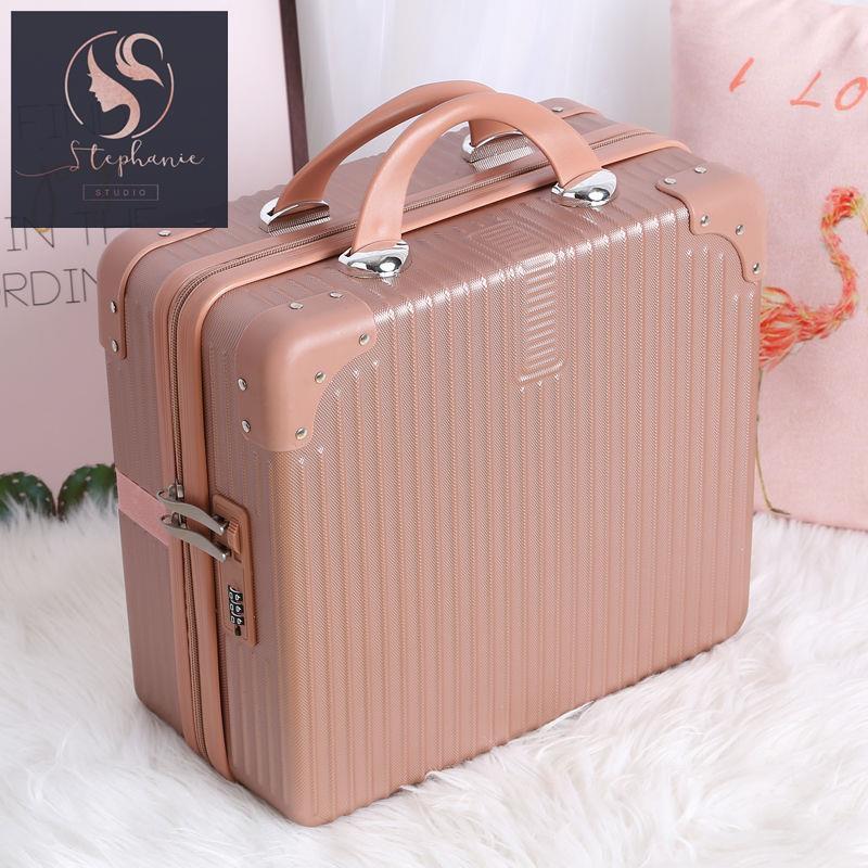 กระเป๋าเดินทาง กระเป๋าเดินทางใบเล็ก เพศหญิง รหัส กระเป๋าเครื่องสำอาง 14 นิ้ว เล็กและเบา กระเป๋าเดินทาง 16 นิ้ว กระเป๋าเก