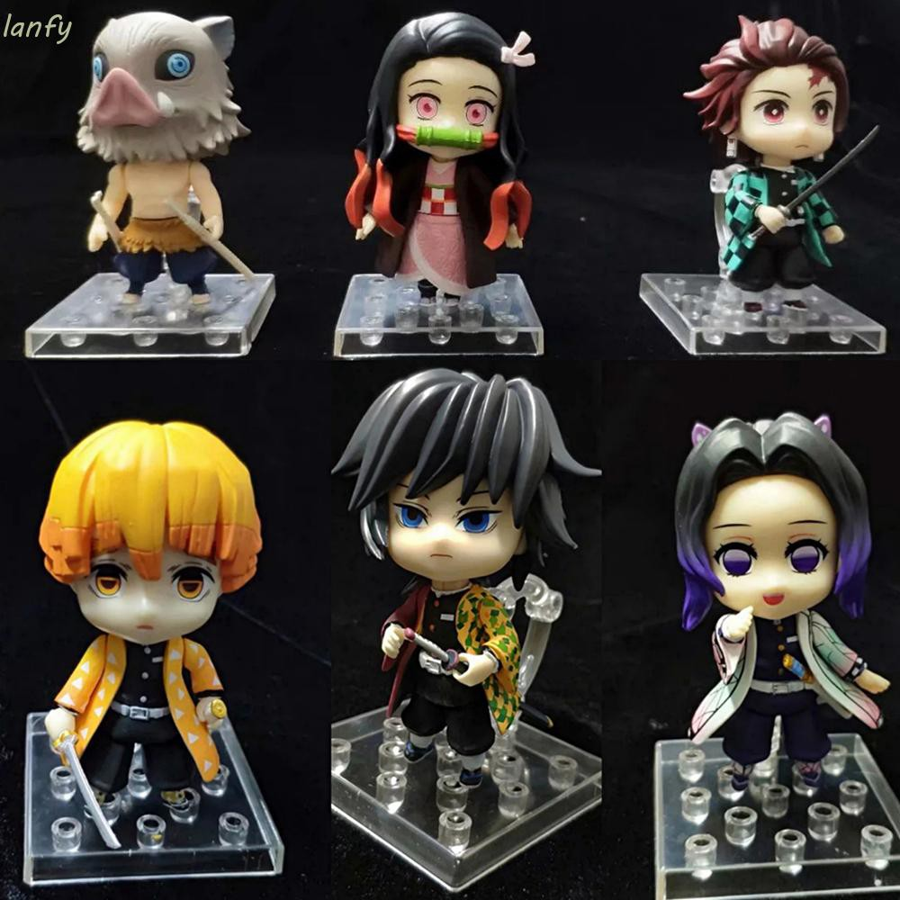 ✎♤LANFY PVC Action Figure Toys Demon Blade Figurine Model Anime Slayer Shinobu Kamado Tanjirou Agatsuma Doll Ornaments