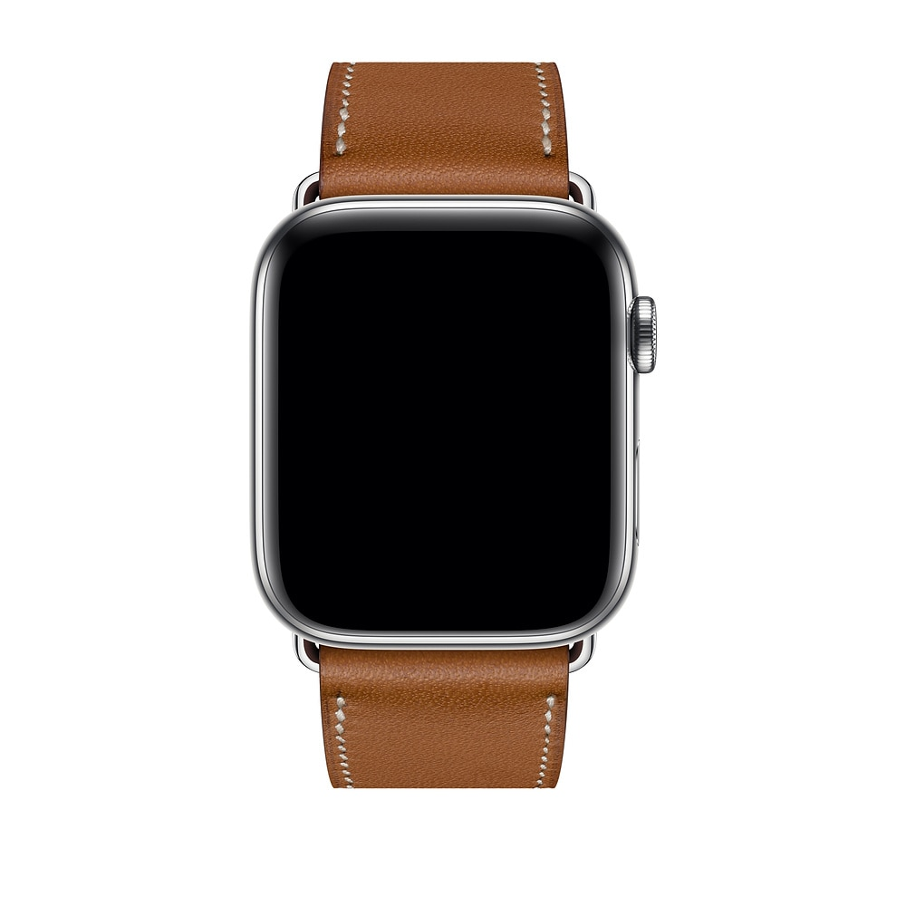 Please COD Herm Logo Leather Single Tour Deployment Buckle Watch Band for Apple Watch Series 6 5 4 3 2 144MM 40MM Strap