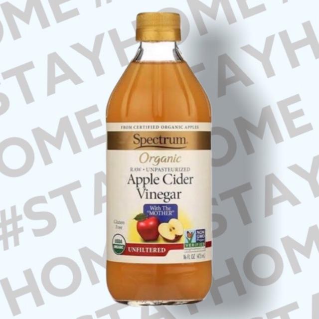 แอปเปิ้ลไซเดอร์ วิเนการ์ อัลฟิลเตอร์เร็ด Spectrum Apple Cider Organic ขนาด 473 ml.