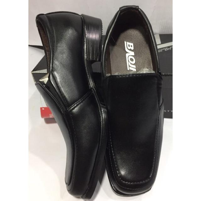 รองเท้าคัชชูเด็กชาย  ในเครือ  CSB  Baoji  รองเท้าหนังดำ
