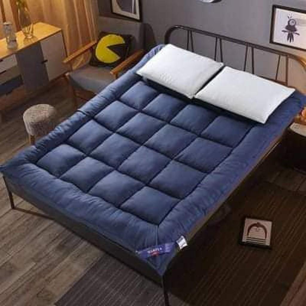 Topper ท็อปเปอร์ ที่นอนขนห่านเทียม ปูที่นอนให่นุ่ม หลับสบาย ขนาดใหญ่ 3.5 ฟุต เบาะรองนอน ขนห่านเทียม สีกรม