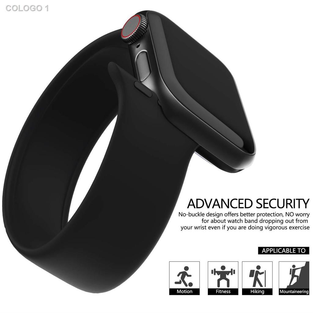 พร้อมสำหรับการจัดส่🔥Hot Sale🔥☇◕☬[ส่งเร็ว สต๊อกไทย] สาย Apple Watch Solo Loop สายซิลิโคน สำหรับ applewatch Series 6 5