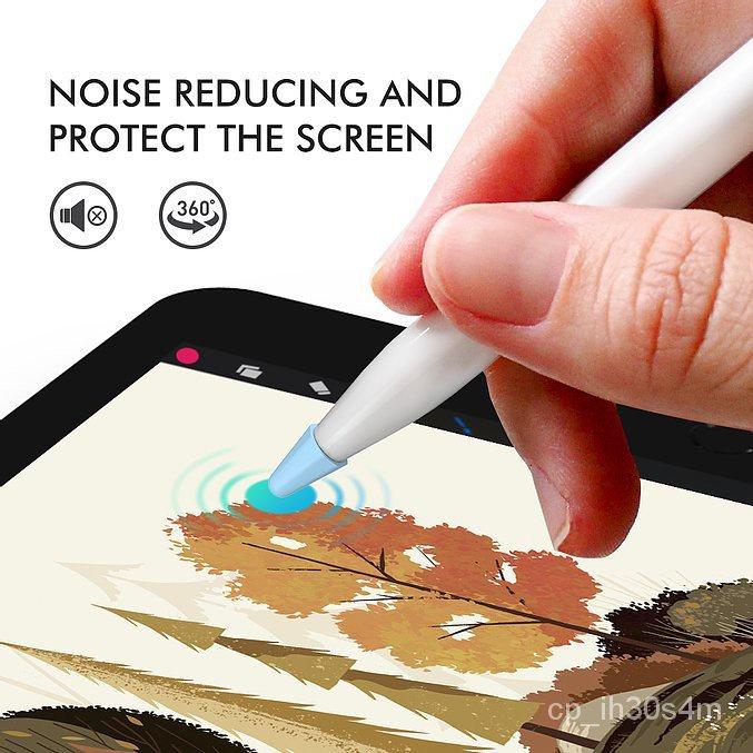jzSL Bảo Vệ Đầu Bút Apple Pencil 1, 2 Bộ 8 Đầu Silicone Aha Style Silicone Tip Cover